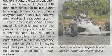 La voiture d''Ayrton Senna à la Coupe Florio en 2011