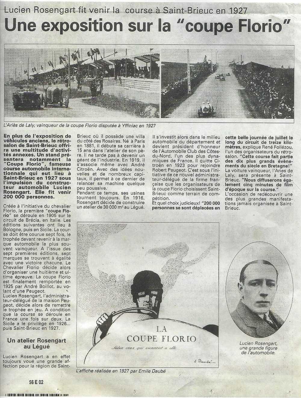 La Coupe Florio en 1927 à Saint Brieuc 0