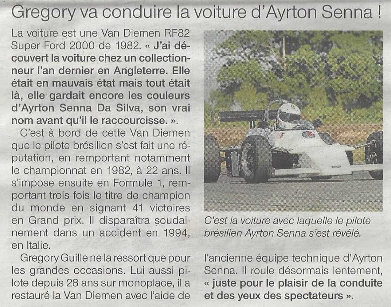 La voiture d''Ayrton Senna à la Coupe Florio en 2011 0